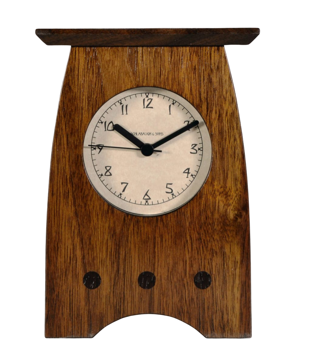 Arts & Crafts Clock, Walnut