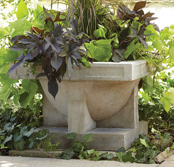 "Oak Park Studio Urn Planter 34-3/4""."