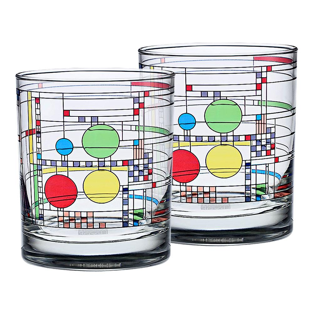 Frank Lloyd Wright Coonley Tumbler, Set of 2