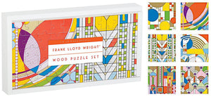 Frank Lloyd Wright Wood Mini-Puzzles, Set of 6