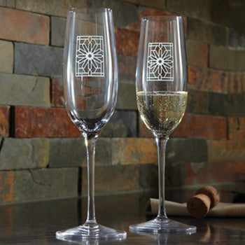 Champagne Flutes - The Rookery, Set/2