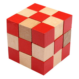 Frank Lloyd Wright Cube Wood Puzzle