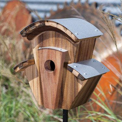 Heart Poplar Wood Steam Piper Bird House
