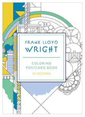 Frank Lloyd Wright Coloring Postcard Set