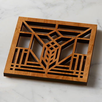 Lake Geneva Wooden Trivet