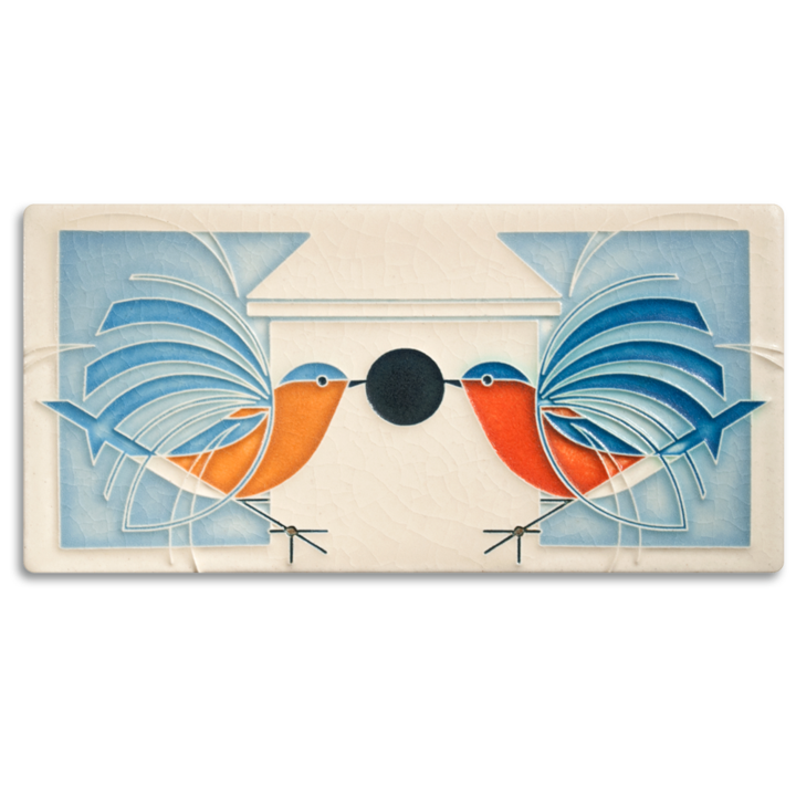"Homecoming Tile Charley Harper - 4"" x 8"""