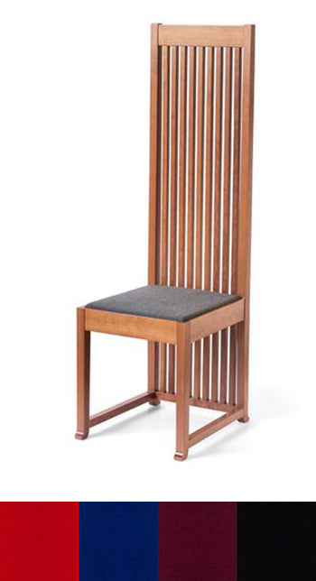 Robie 1 Chair-Cherry/Walnut, Leather Seat.