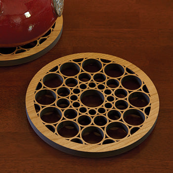 SC Johnson Wooden Trivet