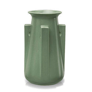 Four Buttress Vase - Teco Green