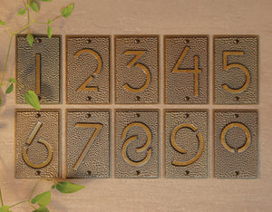 Frank Lloyd Wright Exhibition Font House Numbers