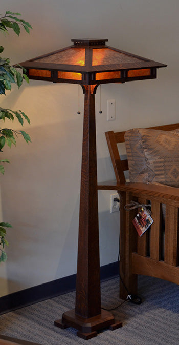 Prairie Craftsman Floor Lamp.