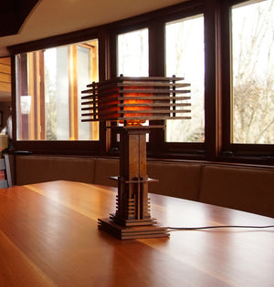 Mid-Century Arts & Crafts Table Lamp.