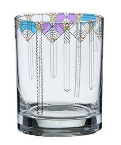 Frank Lloyd Wright Tumbler Glass, April Showers DOF, Set of 4