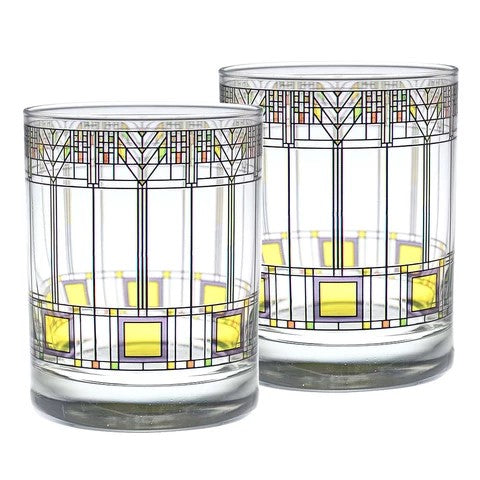 Frank Lloyd Wright Tree of Life Tumbler Glass, Set of 2