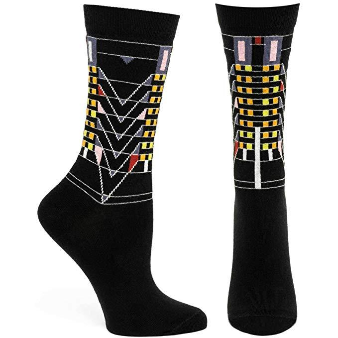 Tree of Life Socks - Black, Small/Medium