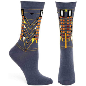Tree of Life Socks - Gray, Medium/Large