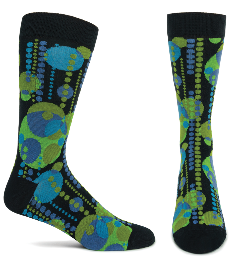Midway Gardens Mural Socks - Green, Medium/Large