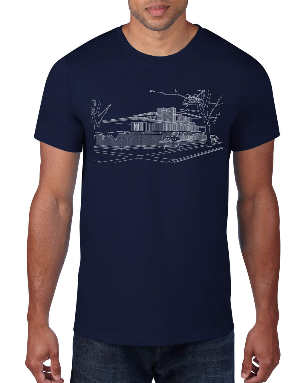 Robie House Architectural Rendering T-Shirt