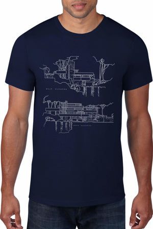 Fallingwater Architectural Rendering T-Shirt
