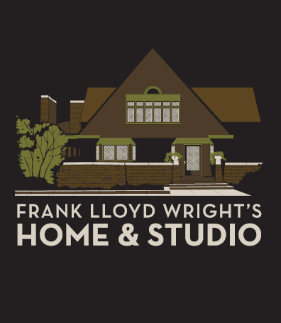 Frank Lloyd Wright's Home and Studio T-Shirt