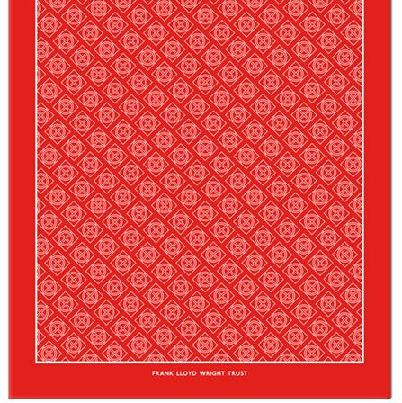 Frank Lloyd Wright Trust Scarf, Red