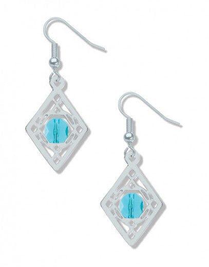 Sullivan Balustrade Earrings - Turquoise Bead