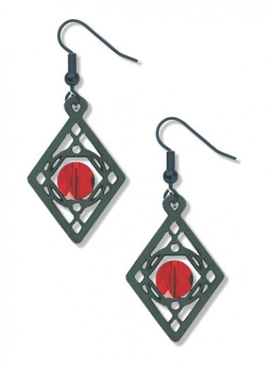 Sullivan Balustrade Earrings - Garnet Bead