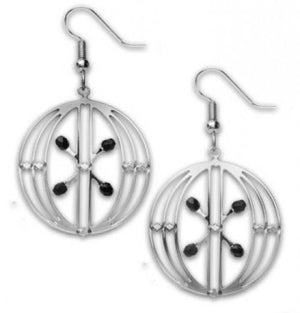 Sullivan Elevator Door Earrings - Black