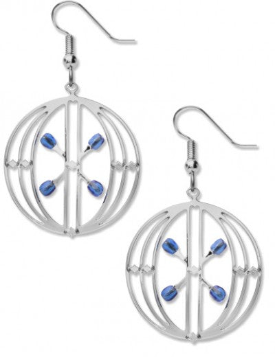 Sullivan Elevator Door Earrings - Blue