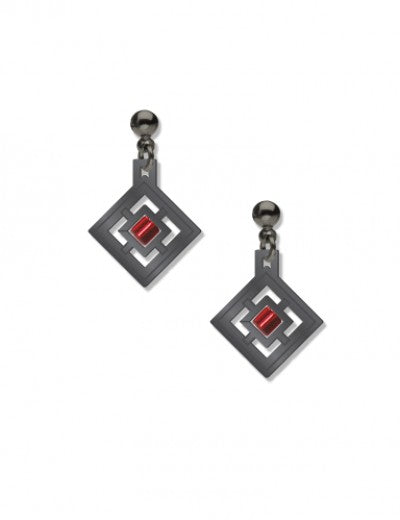 Zimmerman Earrings - Red Bead