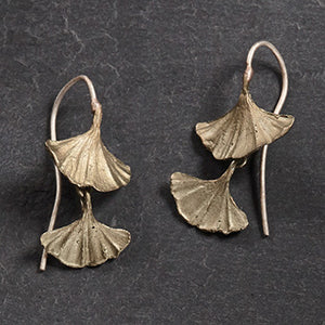 Ginkgo Double Leaf Earrings