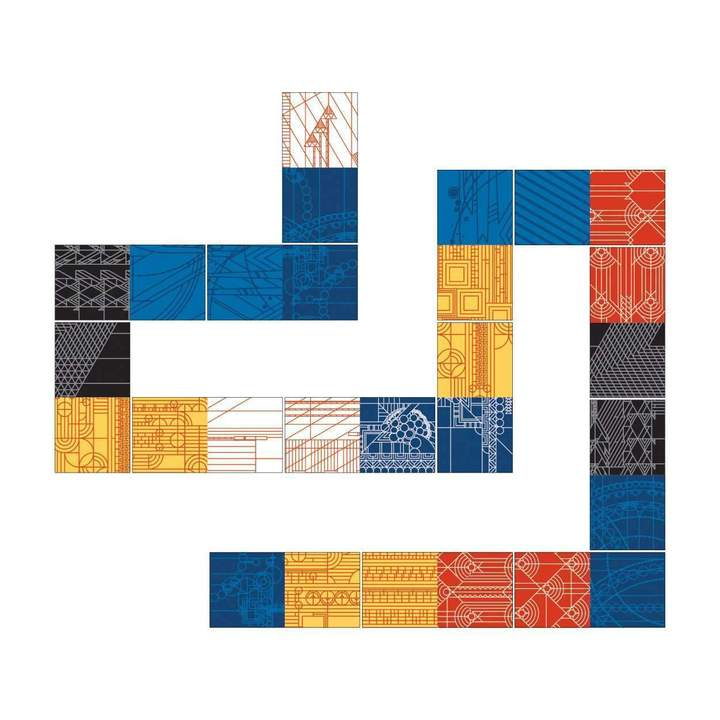 The Patterns of Frank Lloyd Wright Dominoes