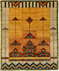 Stained Glass Gold -  Wool Area Rugs.