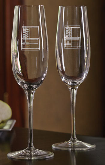 Champagne Flutes - Bach House,Set of 2
