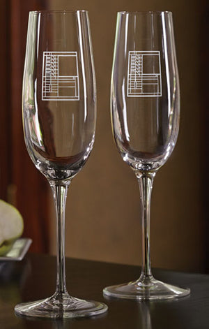 Bach House Champagne Flutes -Set of 2