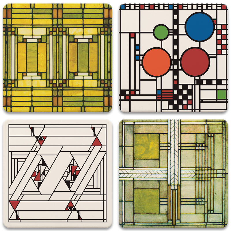 Art Glass Assorted Coasters - Set/4