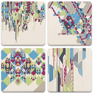 Nature Patterns Assorted Coasters - Set/4