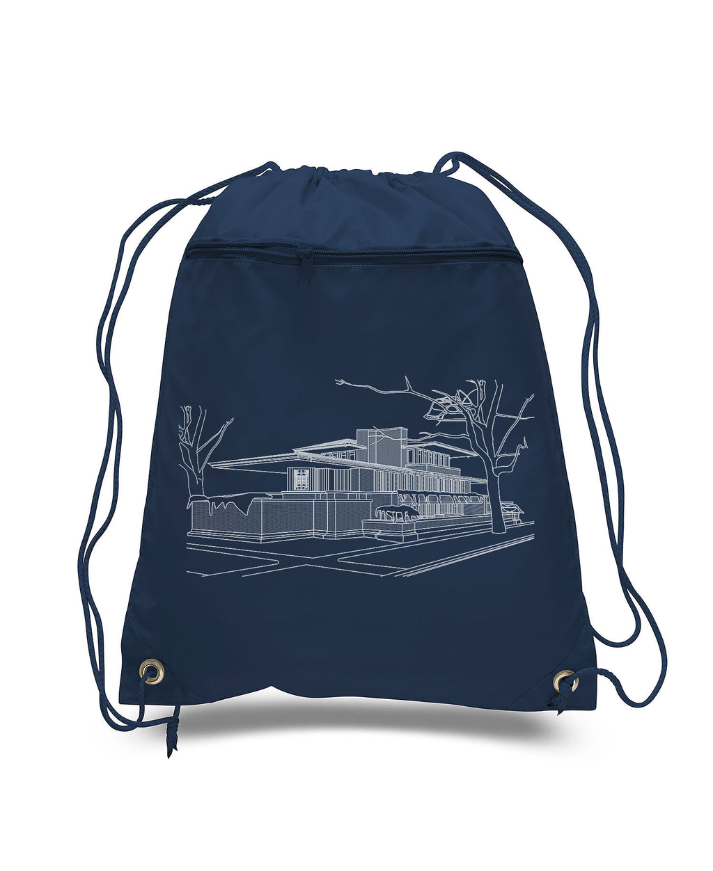 Robie House Drawstring Backpack