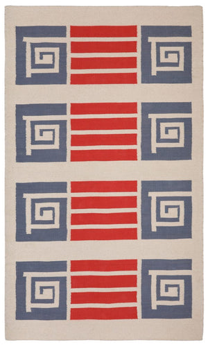 Frank Lloyd Wright Community Cotton Flat Weave 3'x5' Rug.