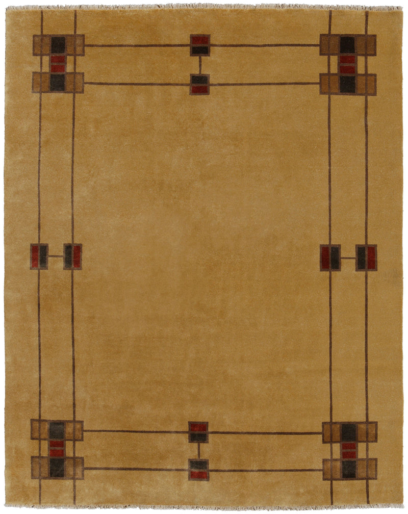 Prairie Border -  Wool Area Rugs.