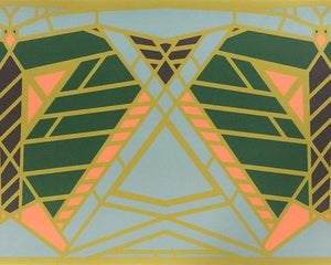 Frank Lloyd Wright Dana Butterfly Printed Vinyl Floor Cloth Rug.