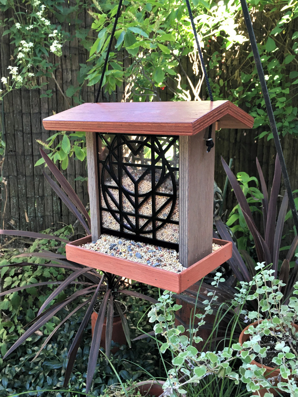 Flora Bird Feeder - Terra Cotta.