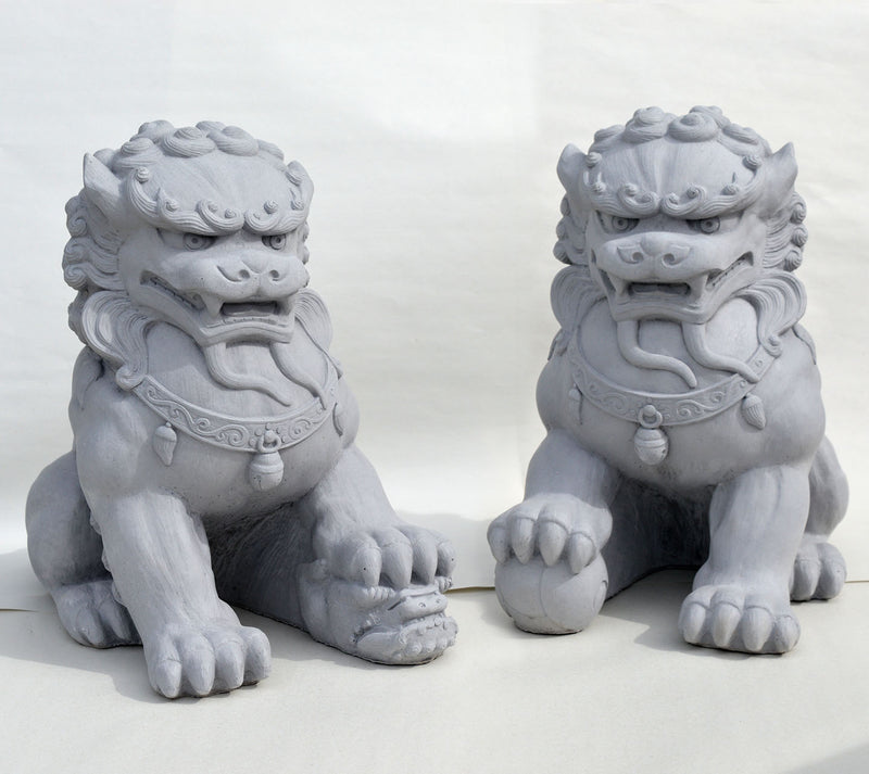 Fu Dog Pair Sculpture.