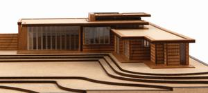 Frank Lloyd Wright's First Usonian House  -  Little Building Co. Model Set.
