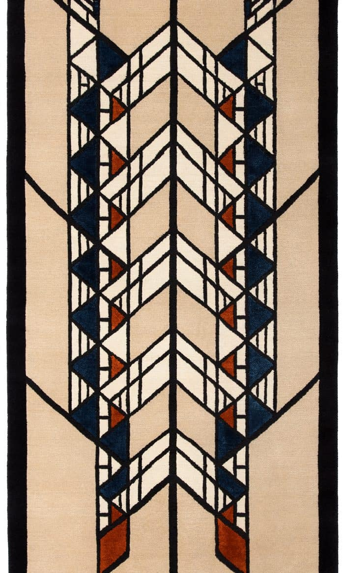 "Frank Lloyd Wright Hollyhock House  2'9"" x 9' Runner."