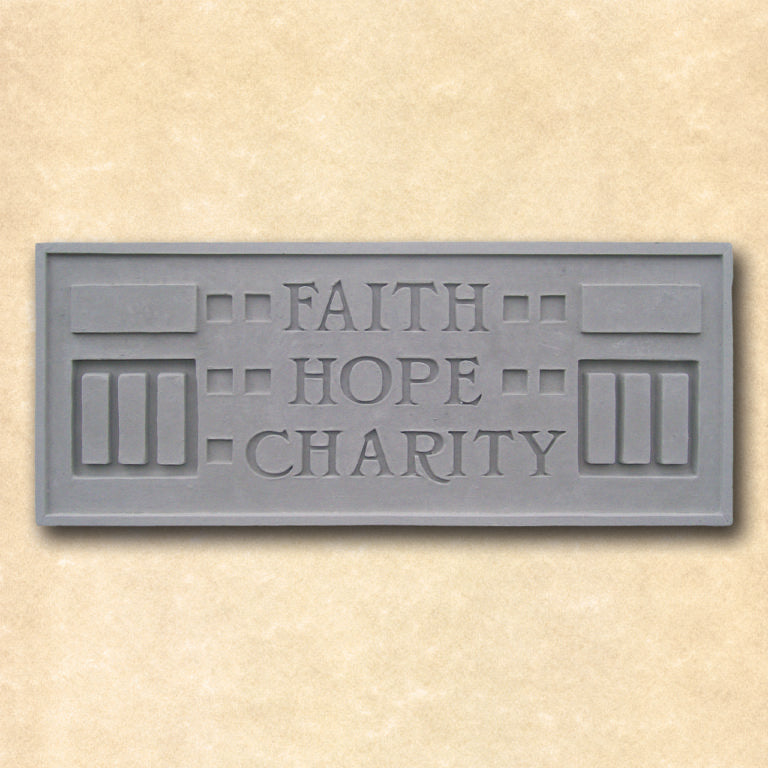 Faith Hope Charity Plaque.