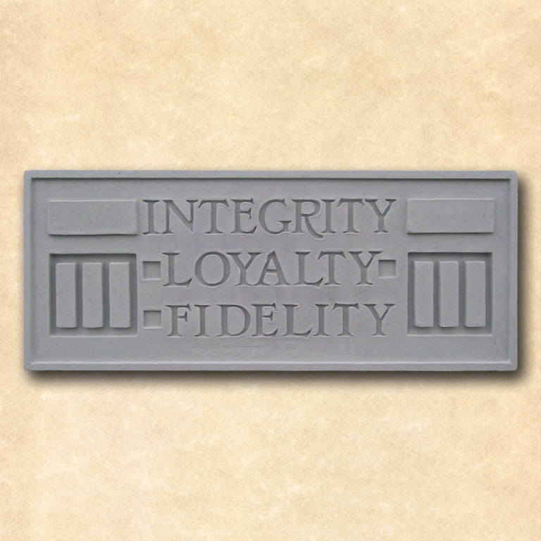 Integrity Loyalty Fidelity Plaque.