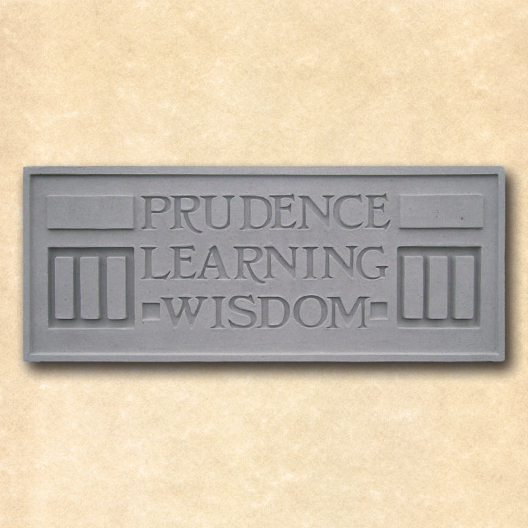 Prudence Learning Wisdom Plaque.