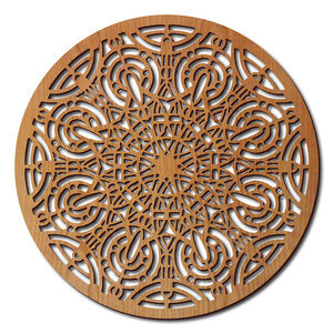 Francis Grille Medallion Wood Panel.