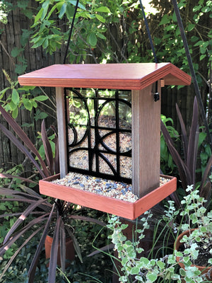 Mondrian Bird Feeder - Terra Cotta.